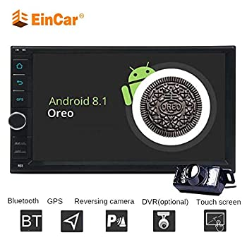 7 Inch Capacitive Touch Screen Android 8.1 Oreo Car Multimedia Player Octa Core 2GB+32GB Double Din Car Autoradio GPS Navigation Bluetooth WIFI/3G/4G OBD2 DVR Steering Wheel Controls + Free Rear