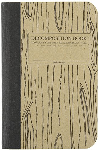 Woodgrain Pocket-Size Decomposition Book: College-Ruled Composition Notebook With 100% Post-Consumer-Waste Recycled Pages