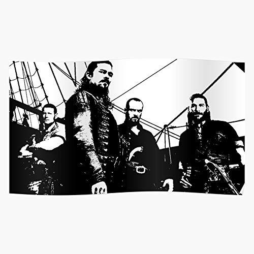 Wolvpower War Pirate Walrus Captain O Manowar Sails Flint Man James Ranger Black Das eindrucksvollste und stilvollste Poster für Innendekoration, das derzeit erhältlich ist