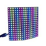 CHINLY WS2812B Panel Led-Matrix RGB 5050SMD 16x16 64 Pixels Matrix Flexible Individually Addressable for Arduino Respberry LED Programmed Panel Screen Image Video Display DC5V