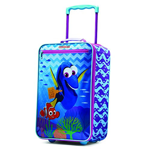 American Tourister Kids' Disney Softside Upright Luggage, Cars