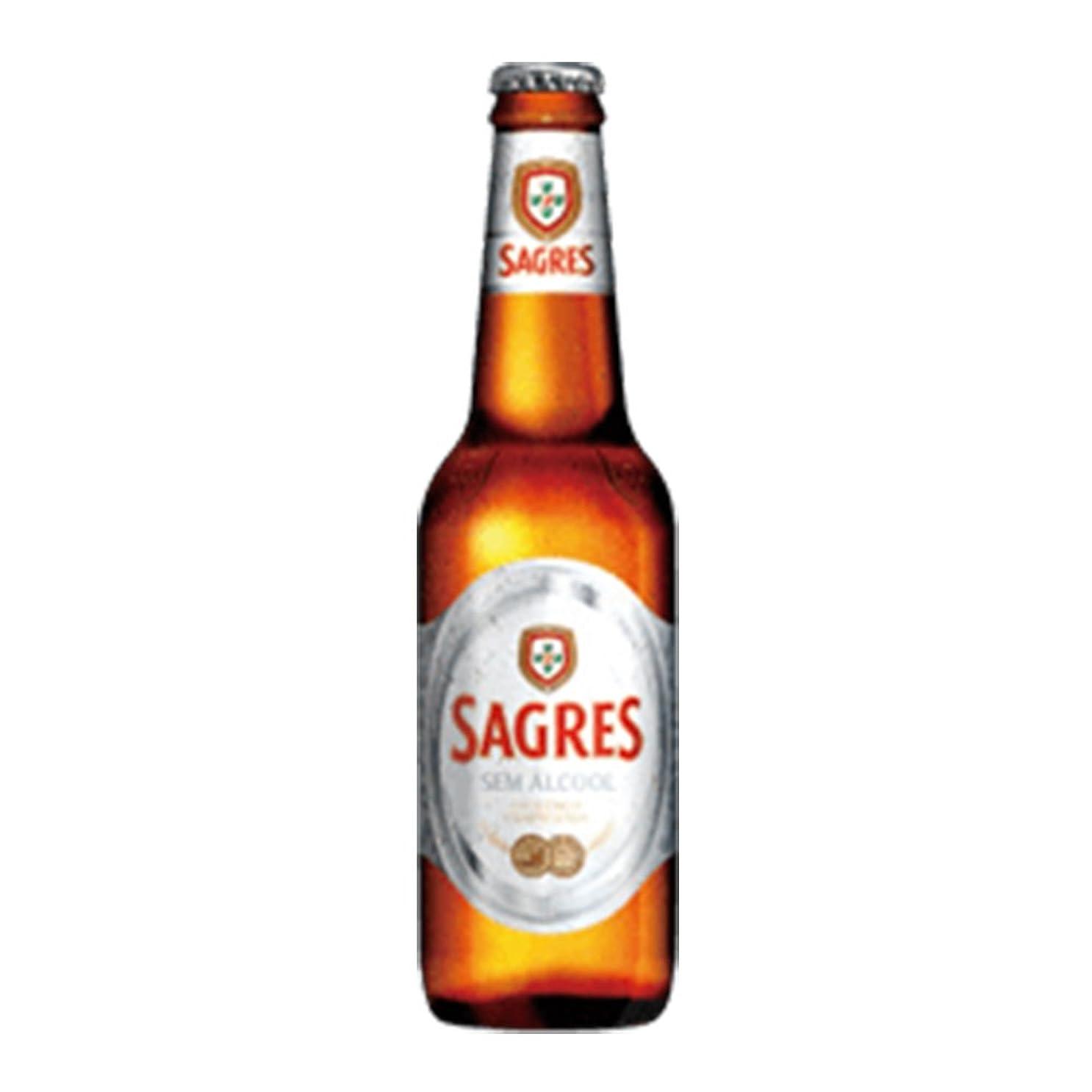 ピア部屋を掃除するインフラサグレス ゼロ 0.3度 330ml 24本セット(1ケース) 瓶 ポルトガル ビール [並行輸入品]