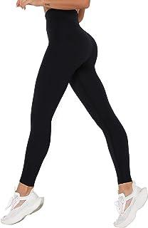 SHAPERIN Sport Set Damen Fitness Yoga Outfit Push up Sport Leggings Langarm Sportshirt Crop Tops 2 Teiler Kompression Sporthose Trainingsanzug Sportanzug Gym Set