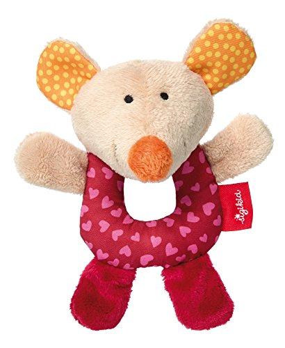 sigikid, 41761 - Mini-Hochet Souris Red Stars - Rose