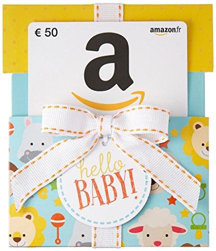 Carte cadeau Amazon.fr - €50 - Dans un étui Hello Baby