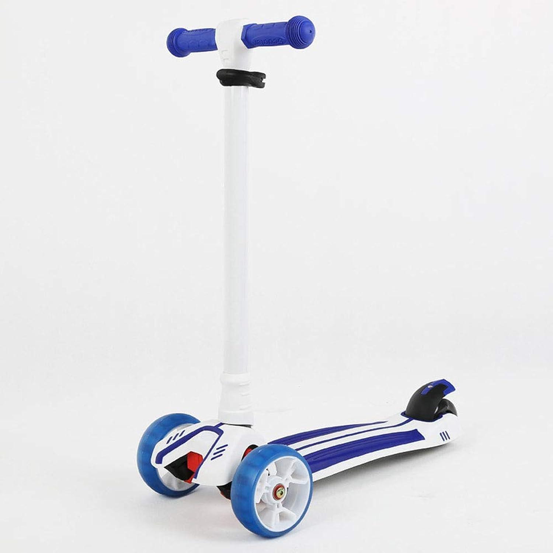 Precio por piso Scooter Scooter Scooter para Niños, mini rueda de patinaje plegable de 4 ruedas con altura ajustable, ruedas intermitentes de PU, dirección por gravedad, actividades para Niños, para niñas y Niños de 3-8 años,A3  autorización
