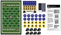MasterPieces NFL Baltimore Ravens Checkers Board Game Set, for 2 Players, Ages 6+, Assorted, Model:41537