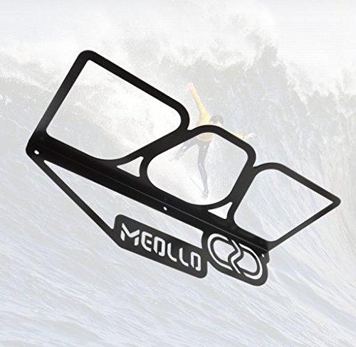 Soporte colgador pared tabla de surf (100% Acero) (Negro)