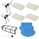 BLUELIRR Accessoires Pièces de rechange pour robot aspirateur AMIBOT Pure, Pulse & Prime,4 Filtre Hepa, 4 Brosse Latérale, 2 Vadrouilles,1 pré-filtre(1 Une brosse à outils de nettoyage gratuite)