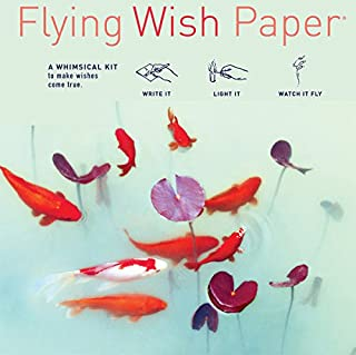 Flying Wish Paper - Write it, Light it, Watch it Fly - KOI Pond, A Symbol of Good Luck - 5