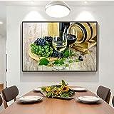 wukongsun Realistische Weintraube wandkunst leinwanddrucke, wanddekor für Hotel wanddekoration leinwand malerei Rahmen malerei 60 cm x 90 cm