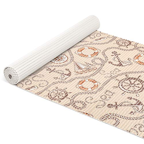 ANRO voor badkamer zacht schuim mat antislip badmat badmat badloper maritiem
