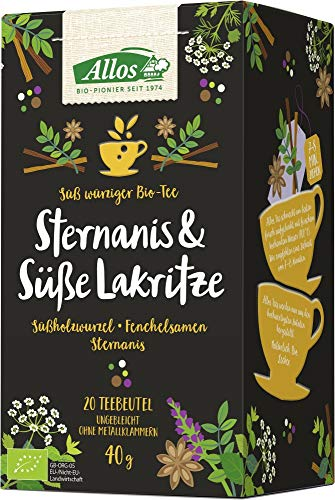 Allos Kräutertee 'Sternanis & süße Lakritze' im Beutel (40 g) - Bio