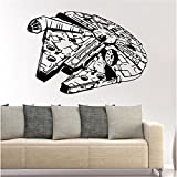 HerZii Stickers Star Wars 3d Star Destroyer impermeable extraíble adhesivos decorativos papel pintado Home Decor Art adhesivo vinilo 85,3 X 57,5 cm