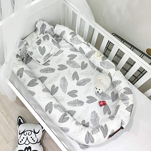 Best Review Of Satbuy Portable Baby Bed Co Sleeping Baby Bassinet Soft Cotton Cosleeping Baby Bed Br...