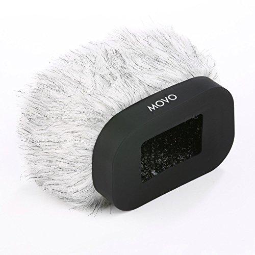Movo WS-R30 Professionell pelzartig Frontscheibe mit Akustikschaum Technologie für Zoom H4n, H5, H6, Tascam DR-40, DR-100 MKII and Sony PCM-D50 tragbarer digitaler Aufnahmegerät