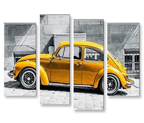 Islandburner Tableau photos sur toile - 4 pièces - Motif voi