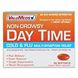 ValuMeds Non-Drowsy Cold & Flu (48 Softgels) Multi-Symptom Relief for Congestion, Headache, Sore Throat, Aches and Pains, Fever | Acetaminophen