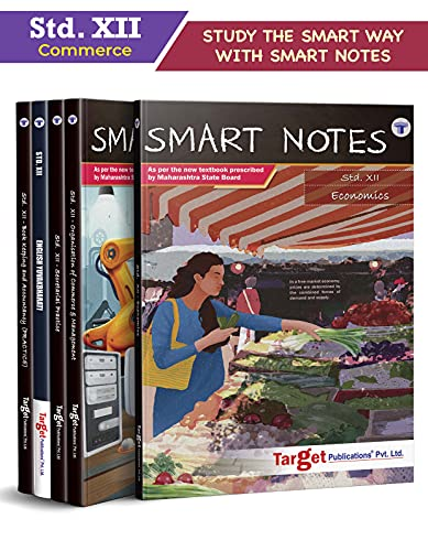Std 12 Commerce Books (Economics, OC, BK, Eng and SP)   SYJC Commerce Guide   Smart Notes   HSC Maharashtra State Board   Based on Std 12th New Syllabus   Set of 5 Books [Paperback] Content Team at Target Publications