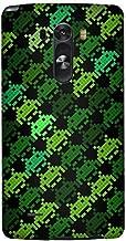 Stylizedd LG G3 Premium Slim Snap case cover Matte Finish - Invader Matrix