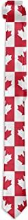 Man Canadian Canada CA Flag Maple Leaf Novelty Necktie Classic Skinny Tie For Wedding Prom Party