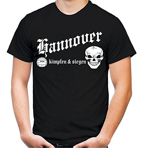 Hannover kämpfen & Siegen Männer und Herren T-Shirt | Fussball Ultras Geschenk | M1 (XL, Schwarz)