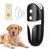 Gumoror Handheld Dog Repellent, LED Ultrasonic Infrared Dog Deterrent 2 in 1 Dog Behavior Training Device