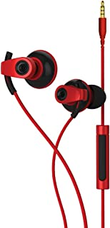 BlueAnt Wireless Pump Boost Wired Headphones, Red