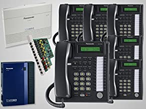 $1249 » 6 Panasonic KX-T7731 Black Phones and New Panasonic KX-TA824 Phone System with KX-TA82483 3x8 Expansion Card and KX-TVA50 Voice Mail Module