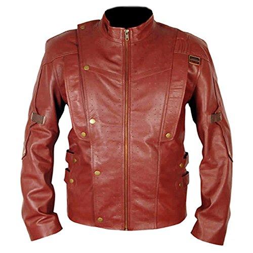 Guardianes de la galaxia Star Lord traje elegante casual desgaste chaqueta de cuero real