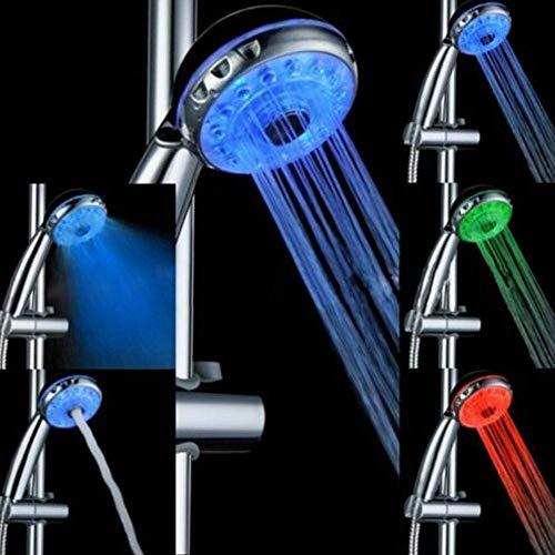 LIANGANAN Tres LED automática de colores claros mano de la cabeza de ducha