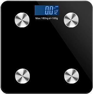 Básculas Digitales De Baño Body Fat Scale Floor Scientific Smart Electronic Led Digital Balanzas De Peso Corporal Balanza De Baño Aplicación Bluetooth Android O Ios Negro