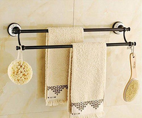 FAFZ Porte-serviette de style européen, accessoires de salle de bains en bronze, serviette antique (couleur : 12#)