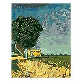 Pintar Por Numeros 40x50cm Lienzo Diy Pintura Al Óleo Con Pinceles Y Acrílicos Decoración Del Hogar Sin Marco 18 Estilos (Color : #4, Size : 40x50cm no frame)