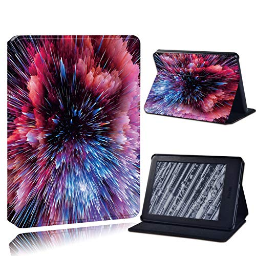 XINJIEJIE Caja para Amazon Kindle Paperwhite 1/2/3/Paperwhite(5Th/6Th/7Th/10Th)/Kindle (10Th /8Th) 6 Pulgadas Anti-Fall Tablet Case Red Galaxy Print Pattern Drop Resistance Protective Cover