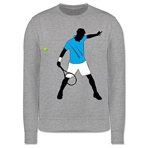 Sport Kind - Tennis Spieler Squash - 104 (3/4 Jahre) - Grau meliert - Pullover - JH030K - Kinder Pullover