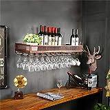 YZ-YUAN Grands Supports à vin en métal durables, Support de Verres de dégustation de Whisky fixé au Mur Le Stockage de Salle à Manger Peut contenir Tout Type de Support pour Verres à vin et flûtes p