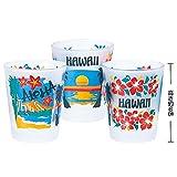 ハワイ 土産 アロハハワイ ショットグラス 3コセット (海外旅行 ハワイ お土産)