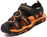 Sandalias para Niño Verano Casual Sandalias de Zapatillas de Trekking y Senderismo Antideslizantes Sandalias de Playa Negro Gr.37