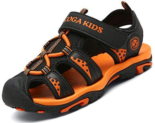Sandalias para Niño Verano Casual Sandalias de Zapatillas de Trekking y Senderismo Antideslizantes Sandalias de Playa Negro Gr.32