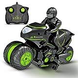 SLONG Kinder-Motorrad Elektrische Fernbedienung Auto Rc Minimotorrad 2,4 Ghz Racing Motorrad-Junge Spielzeug Für Kinder,Grün -