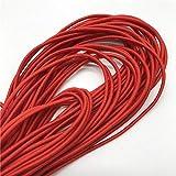 CXWK Banda de Goma elástica 2MM 5yards elástico Redondo Bunte elástica línea de Costura DIY Cuerda,Rojo