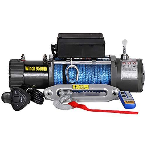 XINGXINGNS Verricello Elettrico di Recupero con Cavo di Nylon da 9000 lbs, Controllo Wireless per Auto per Argano per rimorchio, Auto e Camion,24vdc