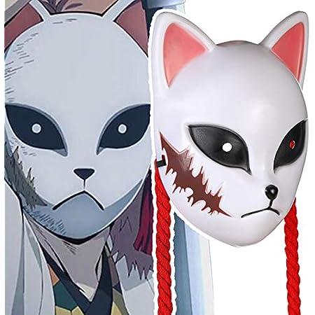 DERAYEE コスプレ お面 樹脂製 繰り返す使用可能 狐マスク 男女兼用 さびと