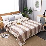 Chickwin Plaid Gingham Tagesdecke Bettüberwurf Gesteppt, Mikrofaser Tagesdecke Schlafzimmer Steppdecke Decke Überwurf Wohnzimmer Sofaüberwurf für Einzelbett Doppelbett (200x230cm,Beigebraun)