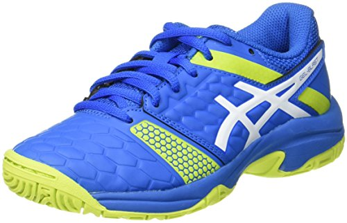 ASICS Unisex-Kinder Gel-Blast 7 GS Handballschuhe, Blau (Directoire Blue/Energy Green/White), 34.5 EU