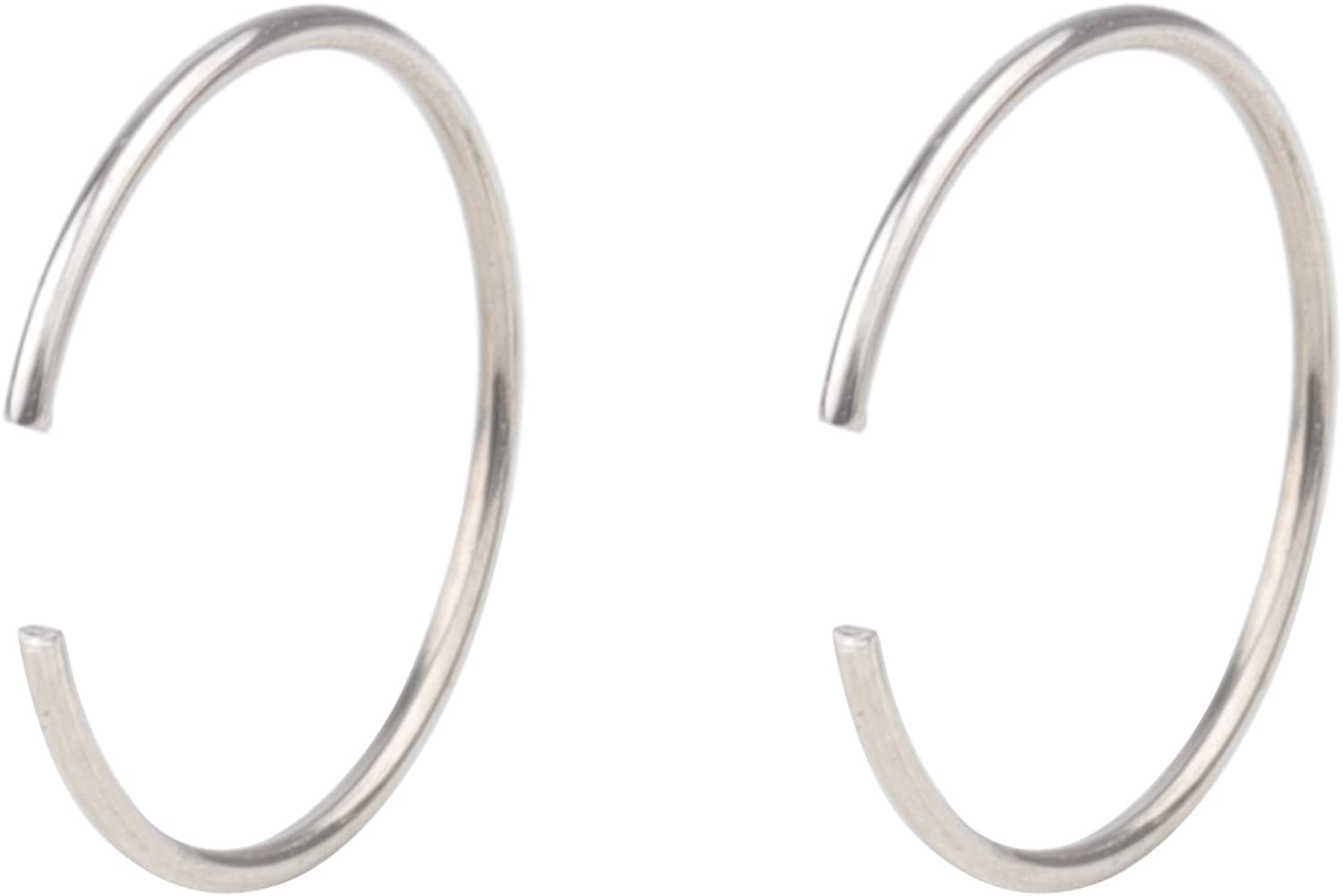 feiyan86 FY 22G 2-8pcs Surgical Steel Body Jewelry Piercing Nose Ring Hoop Nose Piercing 10mm