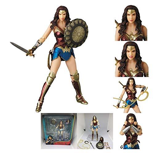 Letaowl Action Figure Mafex Flash Aquaman Figura John Wick Cyborg Action Figure Toys 15cm (Color : Wonder Woman 048)