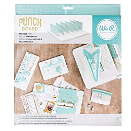 We R Memory Keepers 0633356600923 Punchboard & Punch-Storage Tray (7 Piece), Off White