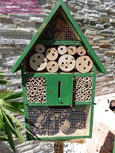 BTV XXL-Insektenhotel +3,5M-Oberfäche 80 cm, 1x Bienenhotel,Insektenhaus Spitzdach + Bienentränke, insektenhotel,